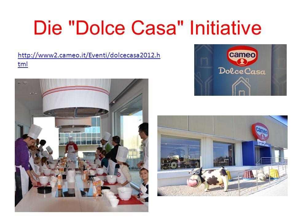 Die Dolce Casa Initiative http://www2.cameo.it/Eventi/dolcecasa2012.h tml