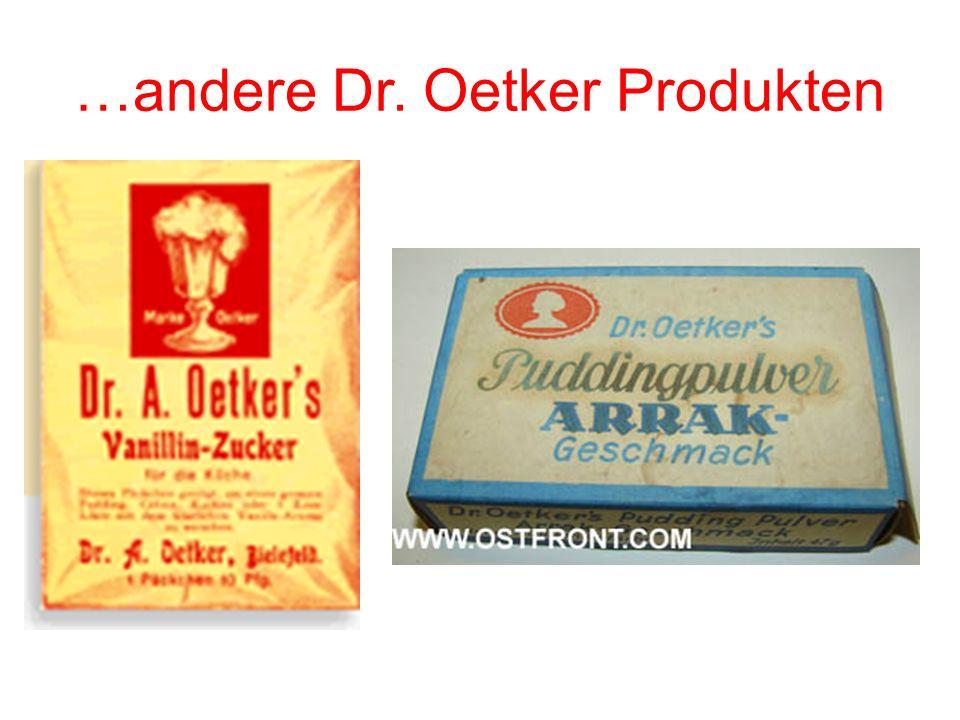 …andere Dr. Oetker Produkten