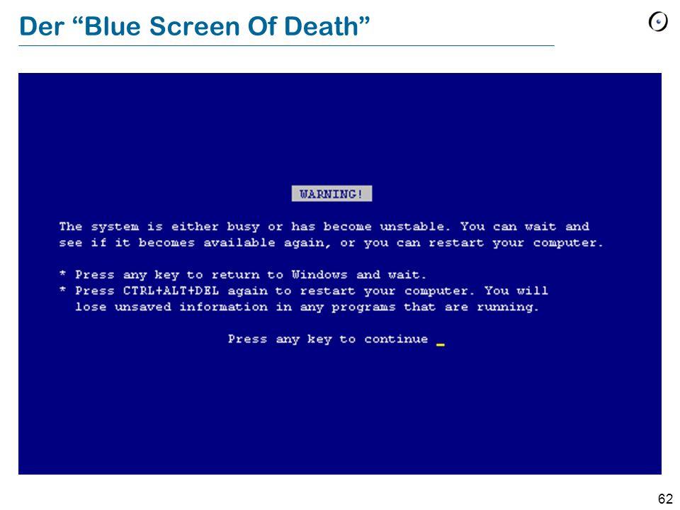 62 Der Blue Screen Of Death