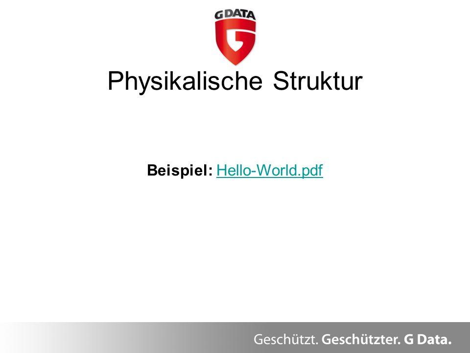 Physikalische Struktur Beispiel: Hello-World.pdfHello-World.pdf