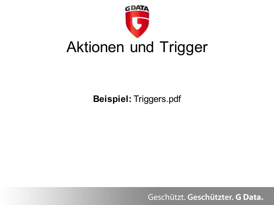 Aktionen und Trigger Beispiel: Triggers.pdf
