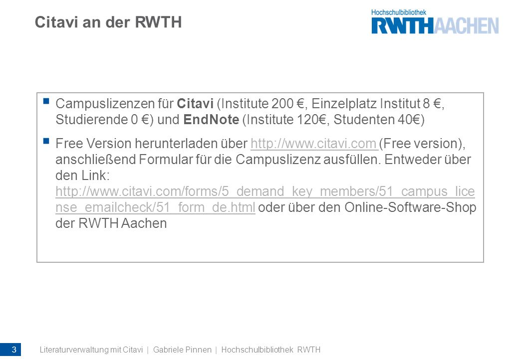 Literatur recherchieren: Online-Recherche Die Treffer zeigt Citavi in einer Liste an.