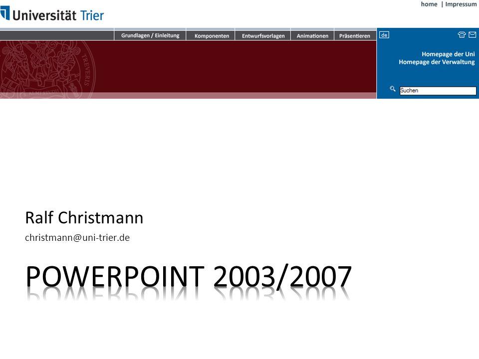 Ralf Christmann christmann@uni-trier.de