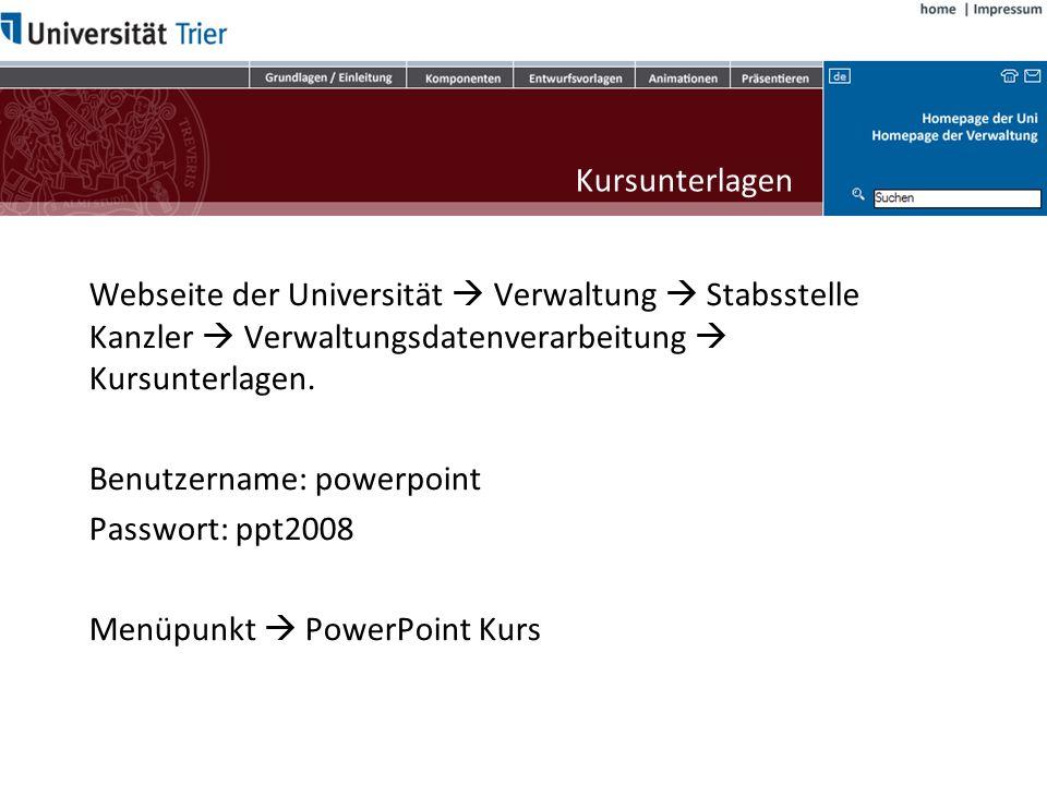 Impressum Ralf Christmann Dipl.-Informatiker (FH) Verwaltungsdatenverarbeitung Universität Trier Tel.