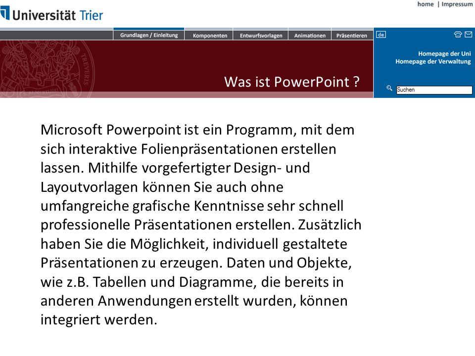 Objekte Sie können mit PowerPoint Daten bzw.