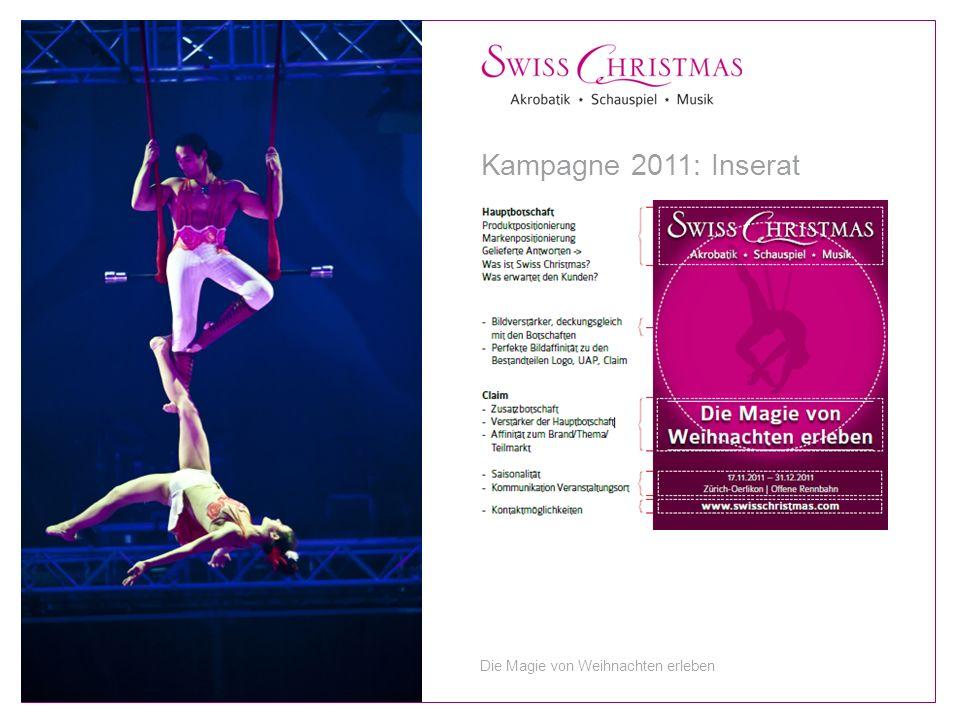 Kampagne 2011: Inserat Die Magie von Weihnachten erleben