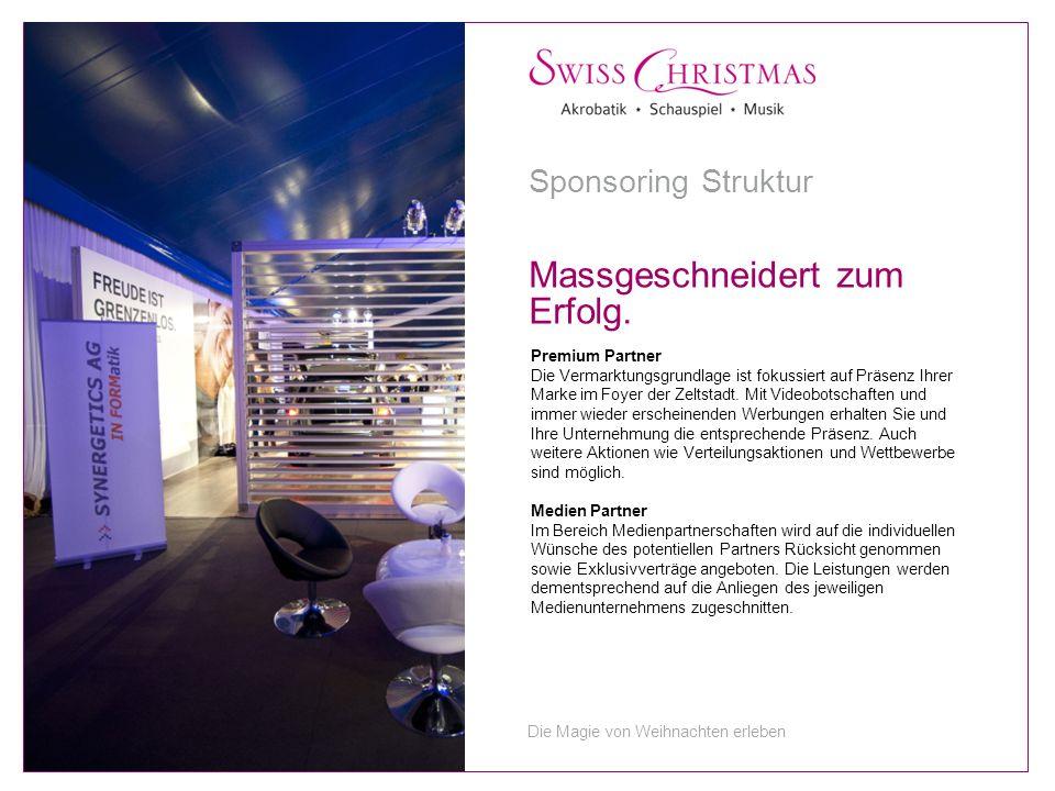 Premium Partner Die Vermarktungsgrundlage ist fokussiert auf Präsenz Ihrer Marke im Foyer der Zeltstadt.