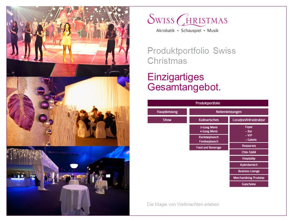 Einzigartiges Gesamtangebot. Produktportfolio Swiss Christmas Die Magie von Weihnachten erleben