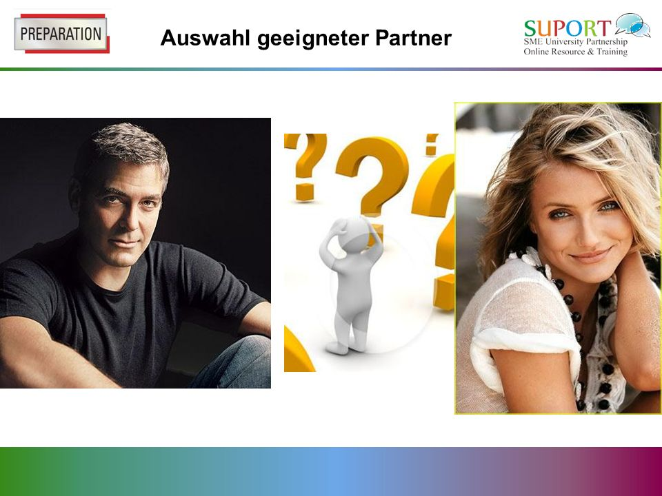 Auswahl geeigneter Partner