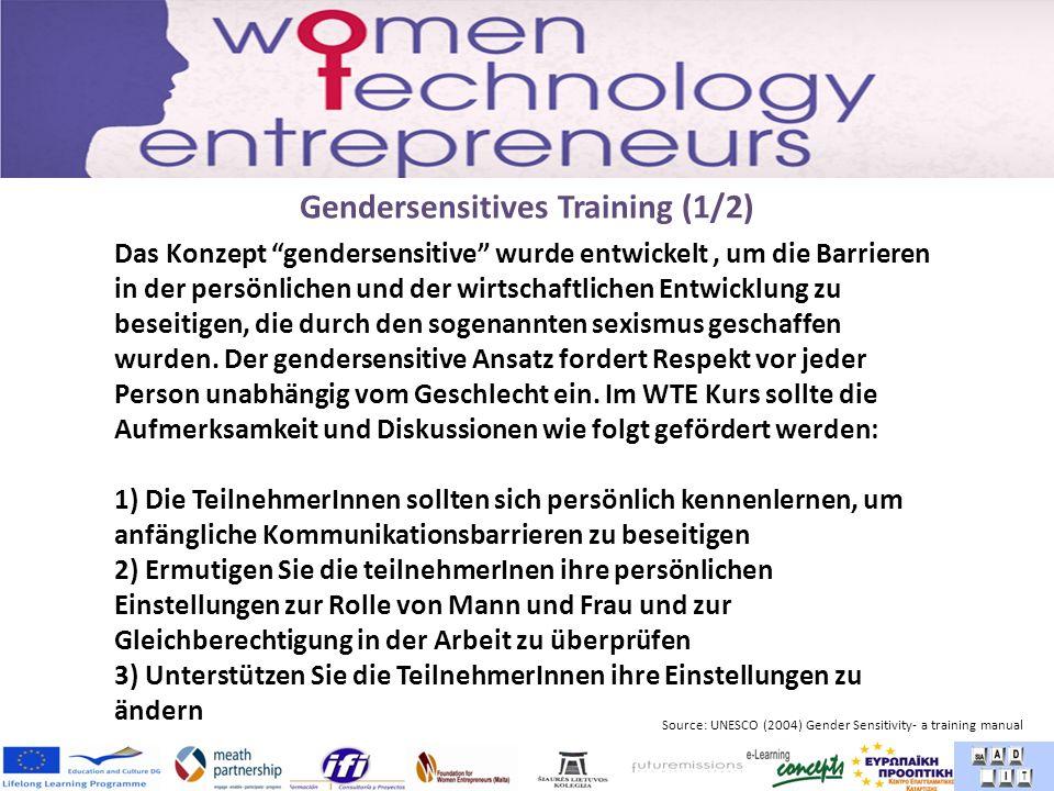 Gendersensitives Training (1/2) Das Konzept gendersensitive wurde entwickelt, um die Barrieren in der persönlichen und der wirtschaftlichen Entwicklung zu beseitigen, die durch den sogenannten sexismus geschaffen wurden.