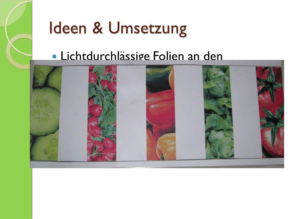 Ideen & Umsetzung Lichtdurchlässige Folien an den Glasfronten anbringen Mit Gemüsemotiven Durchführbar mit der Firma Schriftwerk in Kreuzlingen
