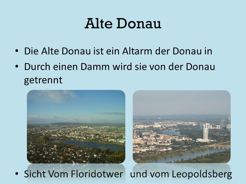 Alte Donau Die Alte Donau ist ein Altarm der Donau in Durch einen Damm wird sie von der Donau getrennt Sicht Vom Floridotwer und vom Leopoldsberg