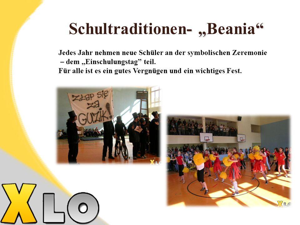 - Schultraditionen- Beania Jedes Jahr nehmen neue Schüler an der symbolischen Zeremonie – dem Einschulungstag teil.