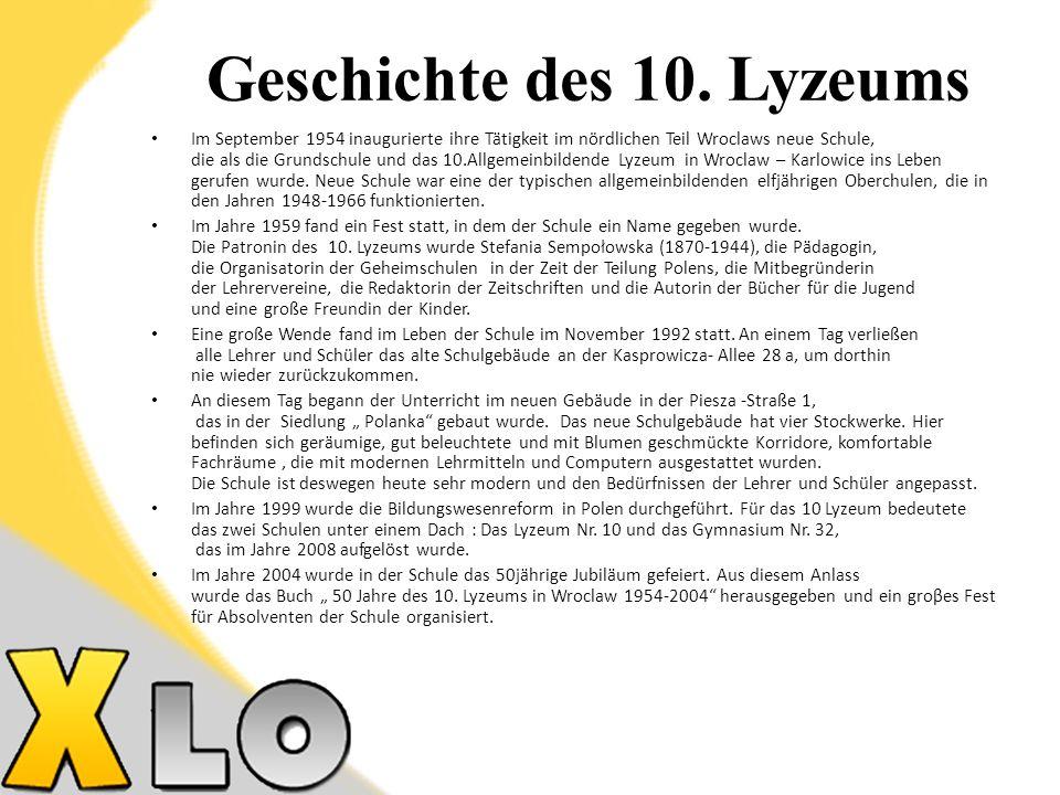 Arbeitsgemeinschaften Englische Sprache Polnische Sprache Physik Chemie Biologie Geschichte Mathematik Programmierer DSD II