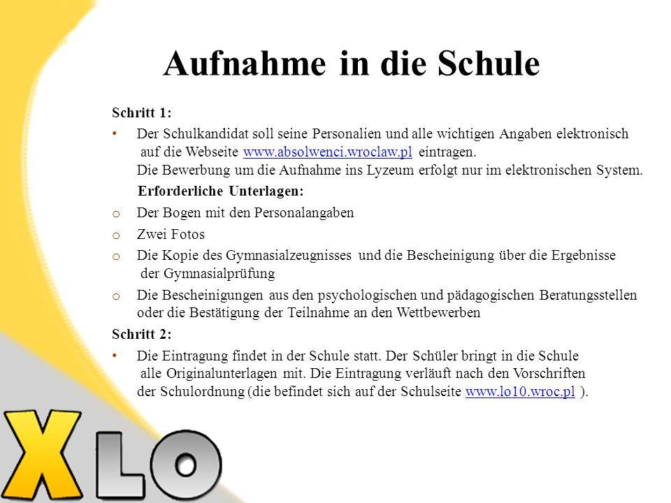 Die Bildungsrichtung der Klasse - allgemeinbildende mit erweitertem Programm in Deutsch.
