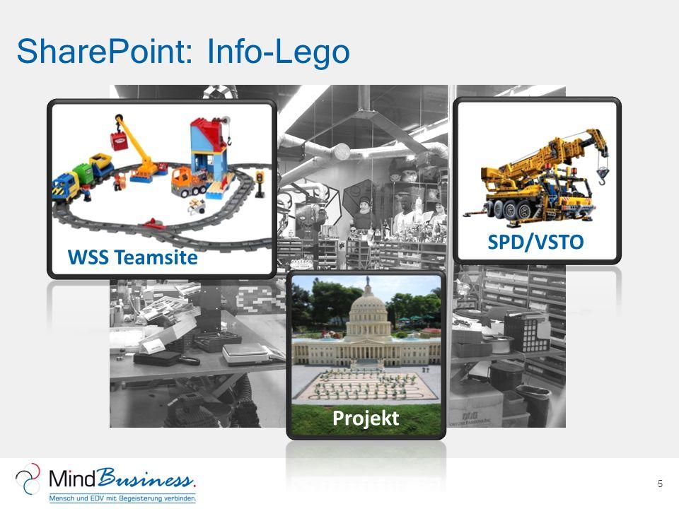 SharePoint: Info-Lego 5 WSS Teamsite SPD/VSTO Projekt