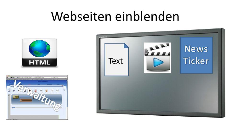Webseiten einblenden