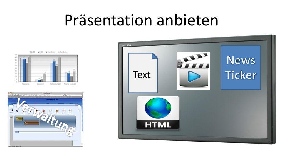 Präsentation anbieten