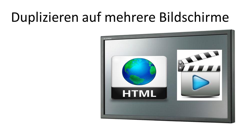 Duplizieren auf mehrere Bildschirme