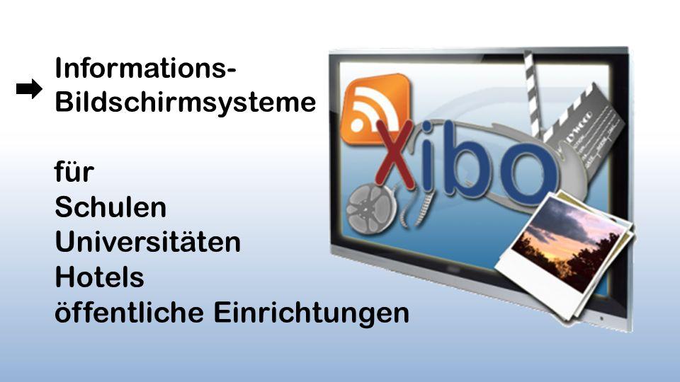 Darstellung von Text Video Ticker html-Webseite Präsentation