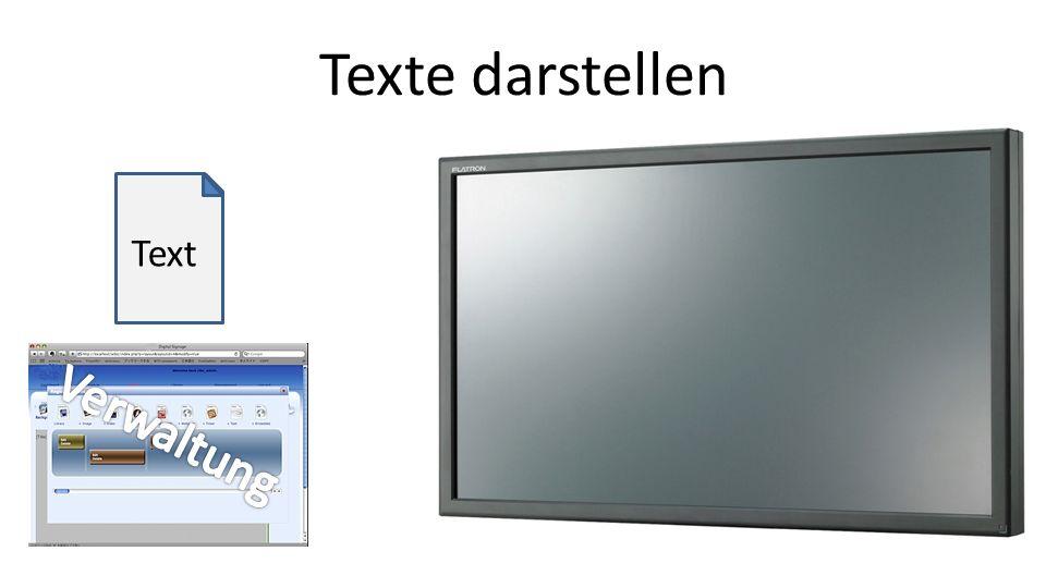 Text Texte darstellen
