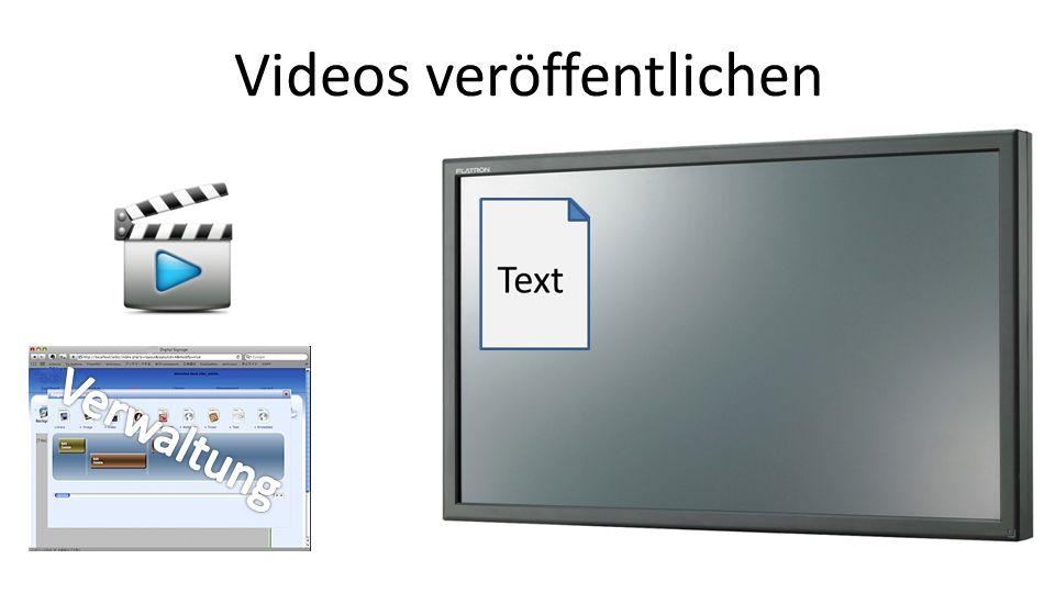 Videos veröffentlichen