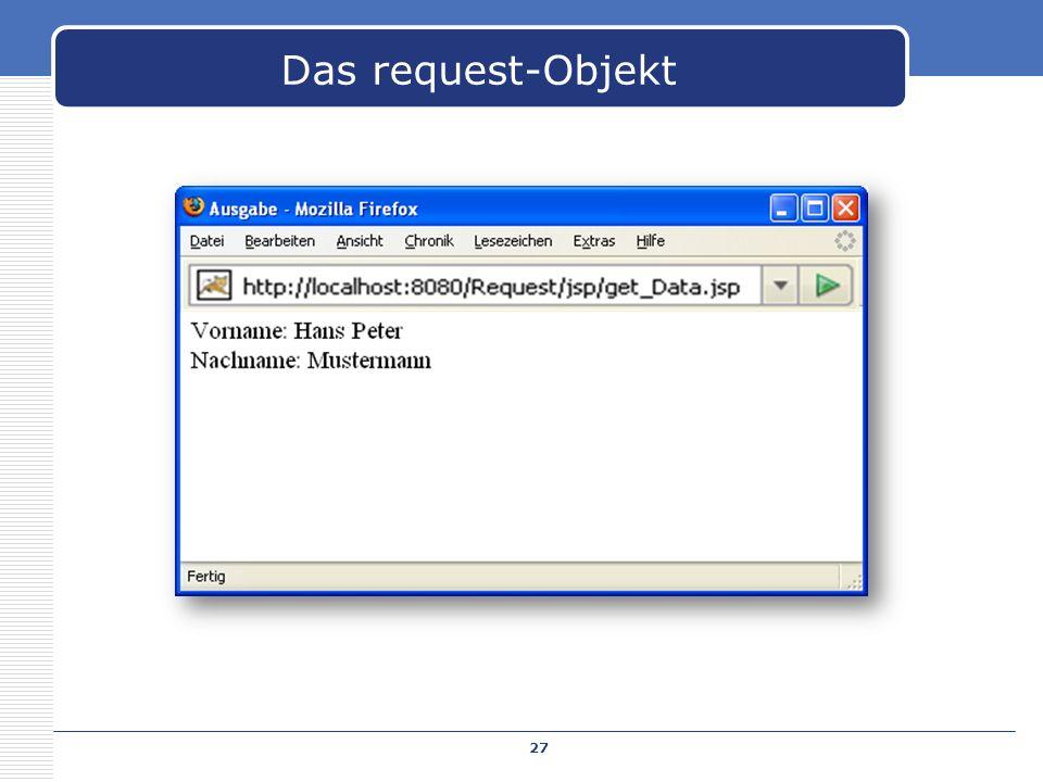27 Das request-Objekt