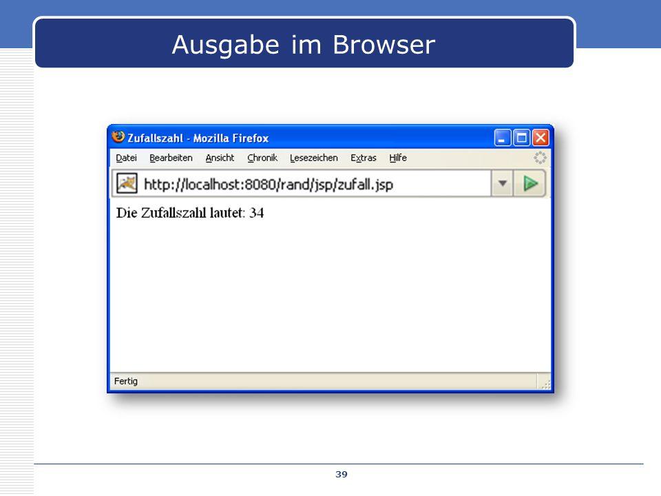 39 Ausgabe im Browser