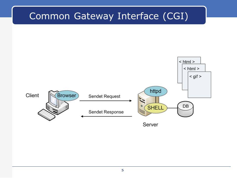 Common Gateway Interface (CGI) 5