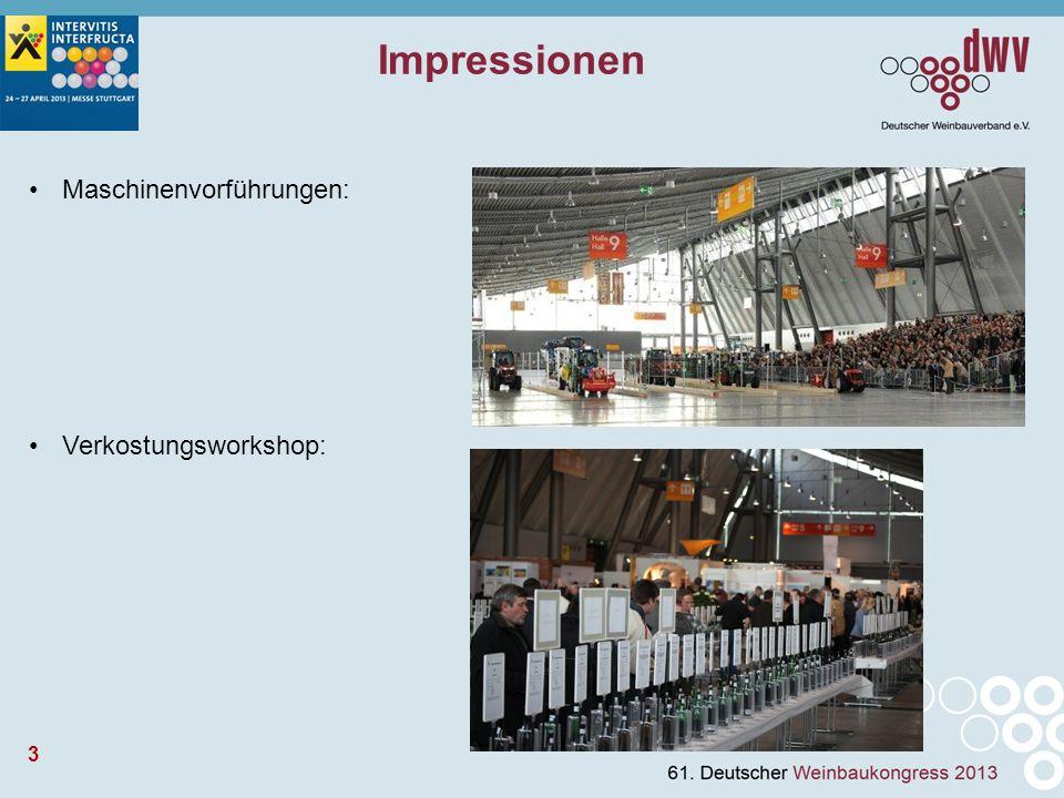 3 Impressionen Maschinenvorführungen: Verkostungsworkshop: