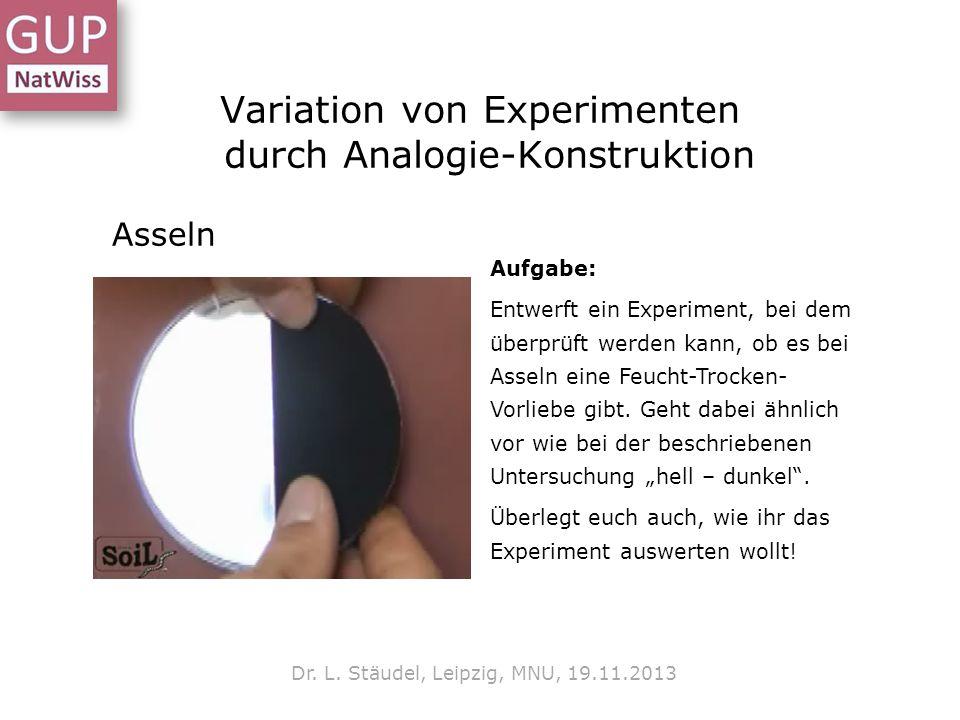 Variation von Experimenten durch Analogie-Konstruktion Dr.