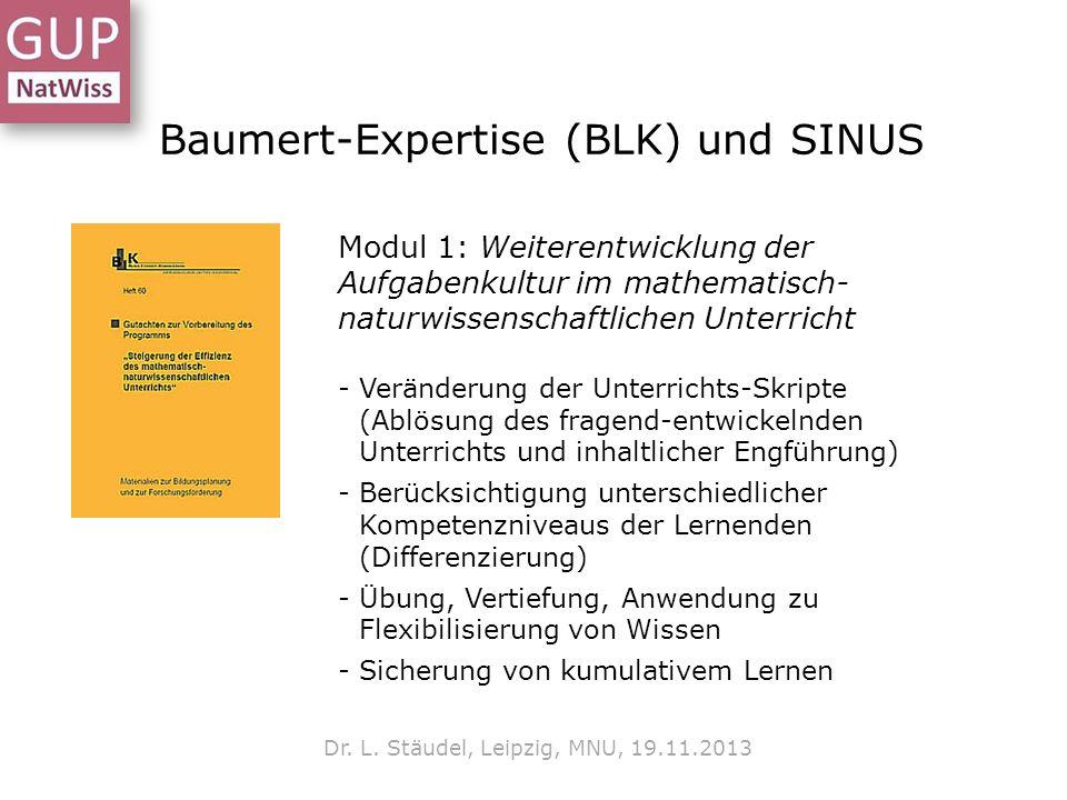 Baumert-Expertise (BLK) und SINUS Dr.L.