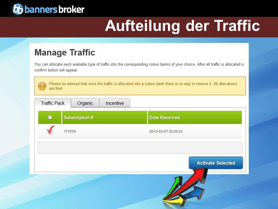 Aufteilung der Traffic