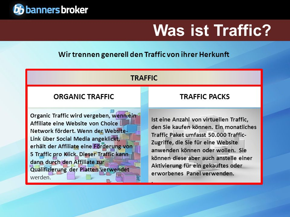 Anwendung der Traffic Traffic ist notwendig, um Panels zu qualifiezieren