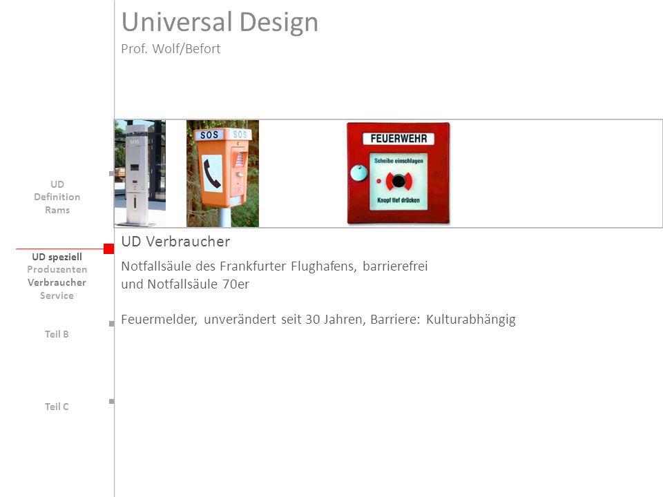 UD speziell Teil B UD Teil C UD Verbraucher Notfallsäule des Frankfurter Flughafens, barrierefrei und Notfallsäule 70er Feuermelder, unverändert seit