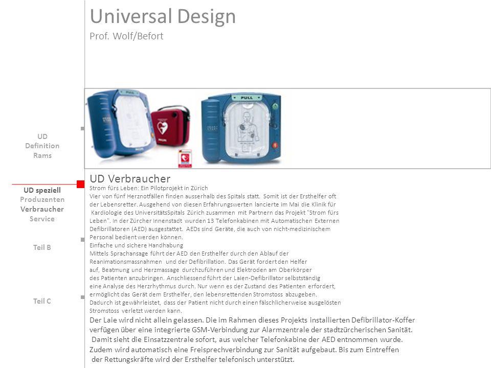 UD speziell Teil B UD Teil C UD Verbraucher Strom fürs Leben: Ein Pilotprojekt in Zürich Vier von fünf Herznotfällen finden ausserhalb des Spitals sta