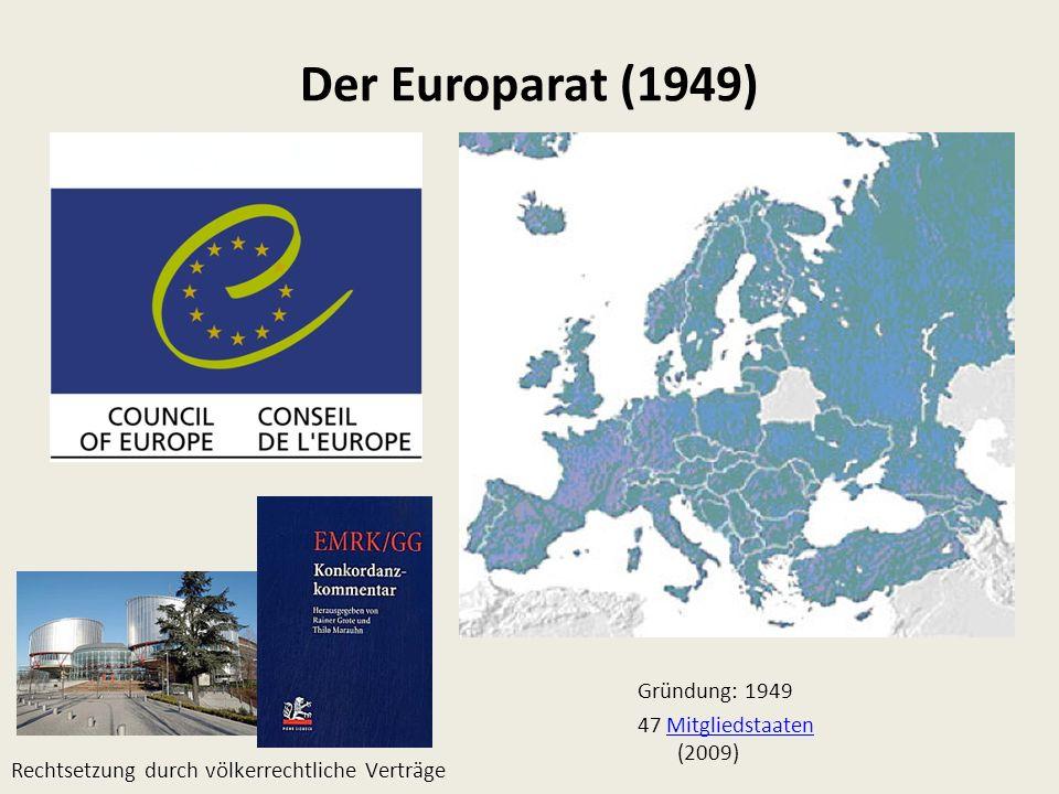 Foren der europäischen Zusammenarbeit nach dem Zweiten Weltkrieg Westeuropäische Union (1948/55): Verteidigungszusammenarbeit Organisation für europäi