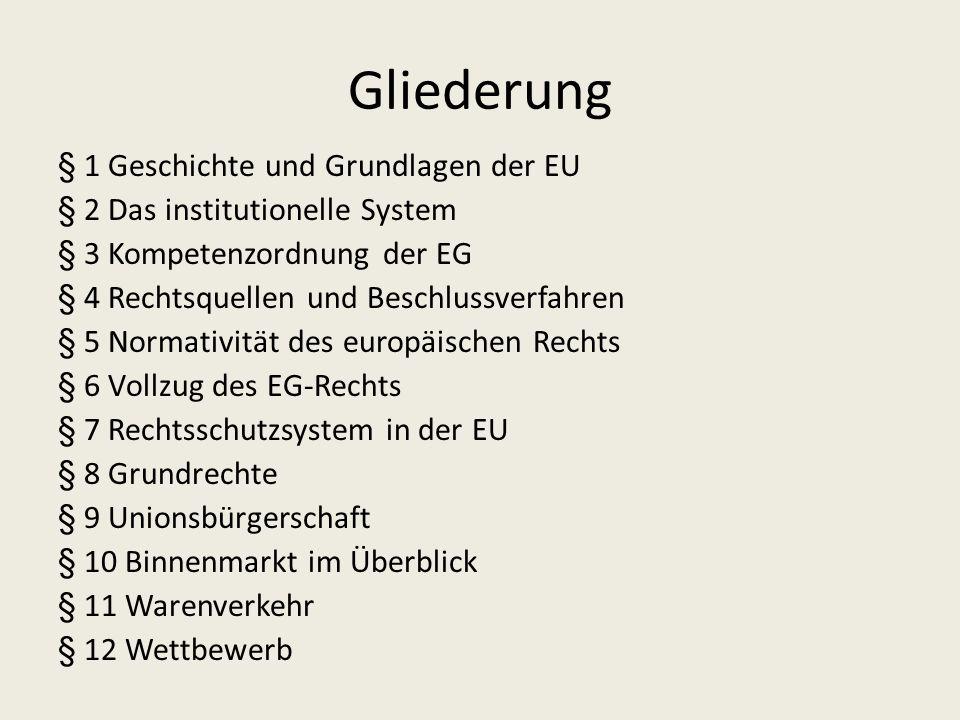 Pflichtvorlesung im Öffentlichen Recht 3. Studiensemester Wintersemester 2010/11 Geschichte – Grundlagen Europarecht I Prof. Dr. Dr. h.c. Ingolf Perni