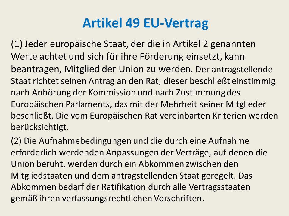 Artikel 48 EU-Vertrag Die Regierung jedes Mitgliedstaats oder die Kommission kann dem Rat Entwürfe zur Änderung der Verträge, auf denen die Union beru