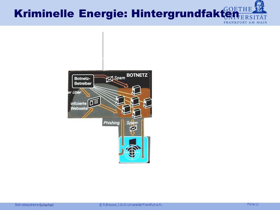 Betriebssysteme: © R.Brause, J.W.G-Universität Frankfurt a.M. Folie 10 Sicherheit Webangriff via Browser exploit Beispiel: Storm-AngriffJuni 2007 IPS
