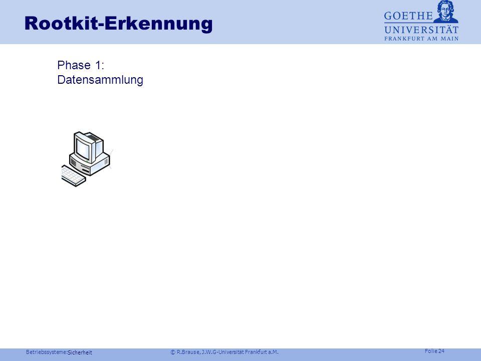 Betriebssysteme: © R.Brause, J.W.G-Universität Frankfurt a.M. Folie 23 Sicherheit Der Rootkit-Angriff Beispiel Windows NT user mode rootkits Userproce
