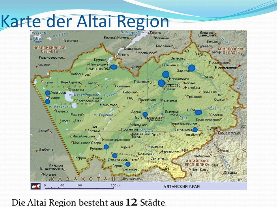 Karte der Altai Region