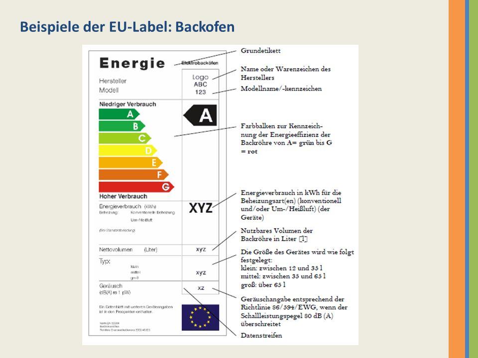 Übergangslösung A+ und A++ - wurde 2003 für Kühl- und Gefriergeräte eingeführt - sollen noch effizienter und sparender als A sein - A+ verbraucht ca.
