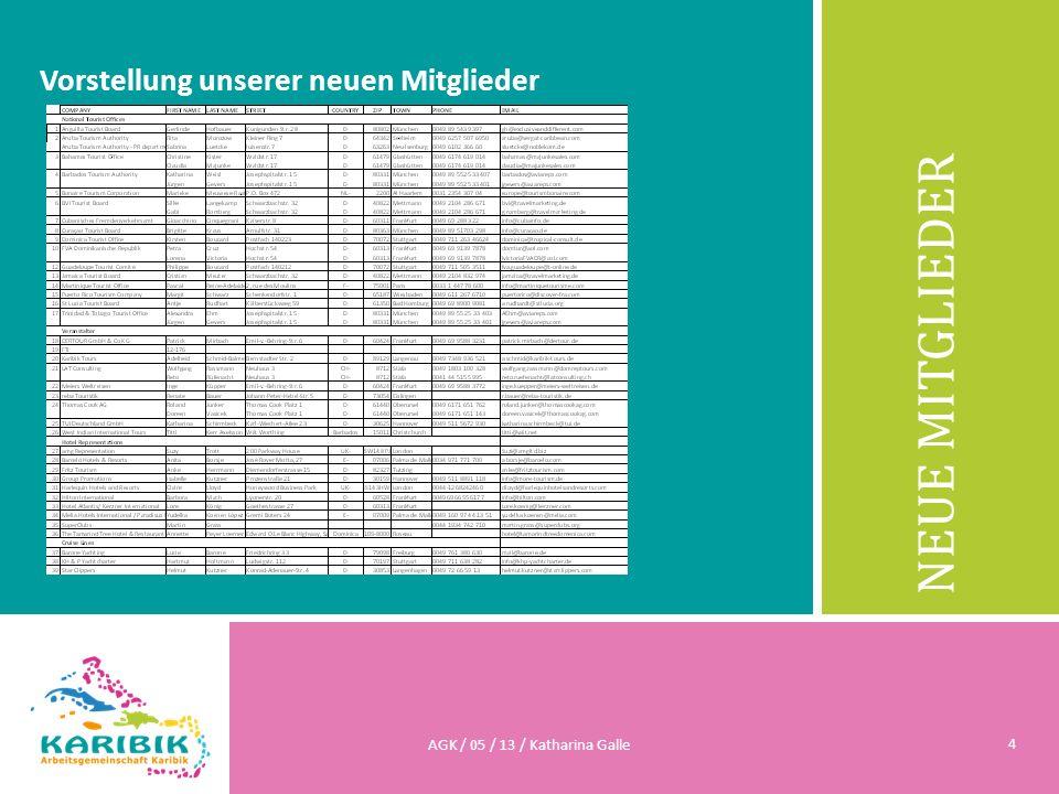 NEUE MITGLIEDER Vorstellung unserer neuen Mitglieder AGK / 05 / 13 / Katharina Galle 4