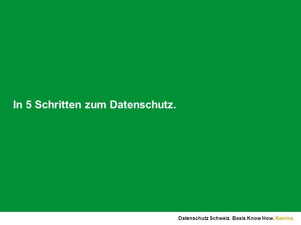 Namics.Bestimmungen zur Bearbeitung von Personendaten im DSG (II).