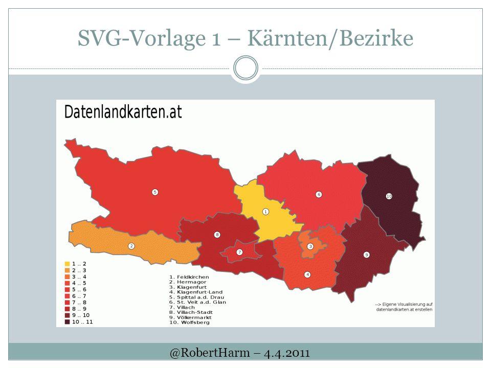 SVG-Vorlage 1 – Kärnten/Bezirke @RobertHarm – 4.4.2011