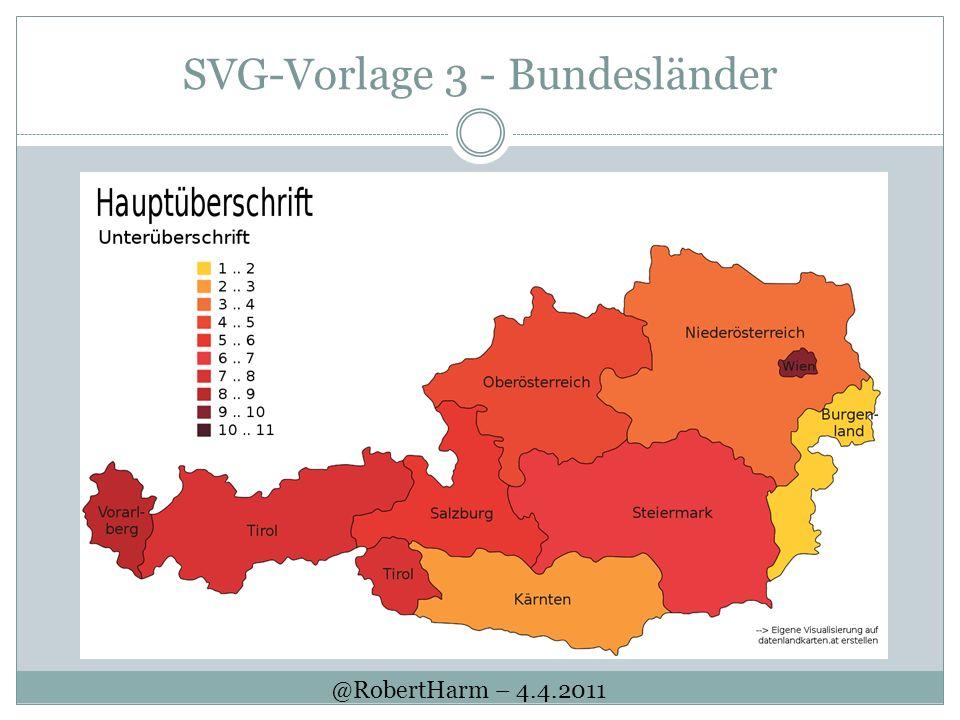 SVG-Vorlage 3 - Bundesländer @RobertHarm – 4.4.2011