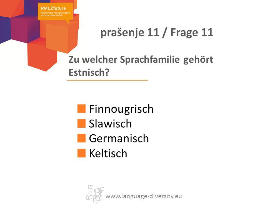 Zu welcher Sprachfamilie gehört Estnisch.