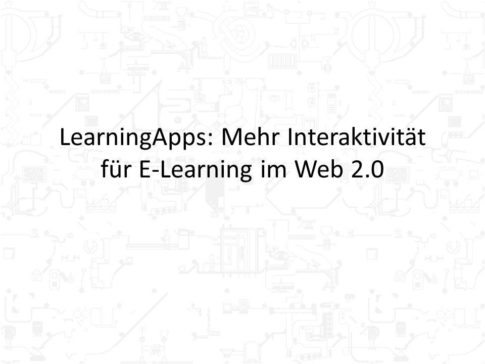 LearningApps: Mehr Interaktivität für E-Learning im Web 2.0