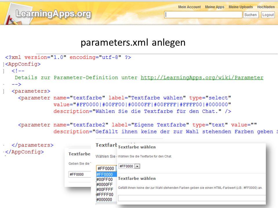 parameters.xml anlegen